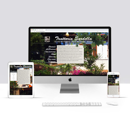 Sito internet realizzato per la Trattoria sul Conero